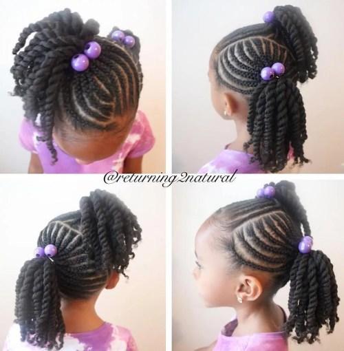 Amazing Braids For Kids 40 Splendid Braid Styles For Girls Short Hairstyles For Black Women Fulllsitofus