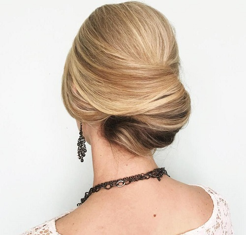 Low French Twist Formal Updo
