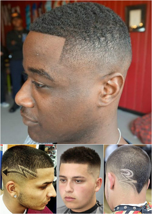 men's short haircuts with fade and shaved designs