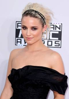 Dianna Agron short hairstyle for new years eve