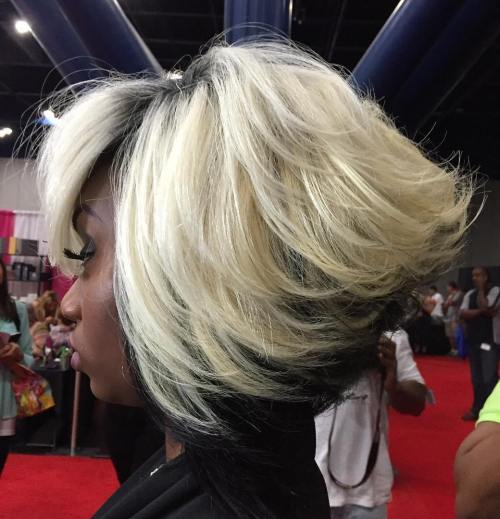 African American Black And Blonde Bob