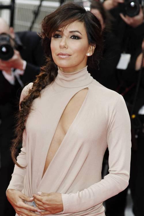 braided long brown hair