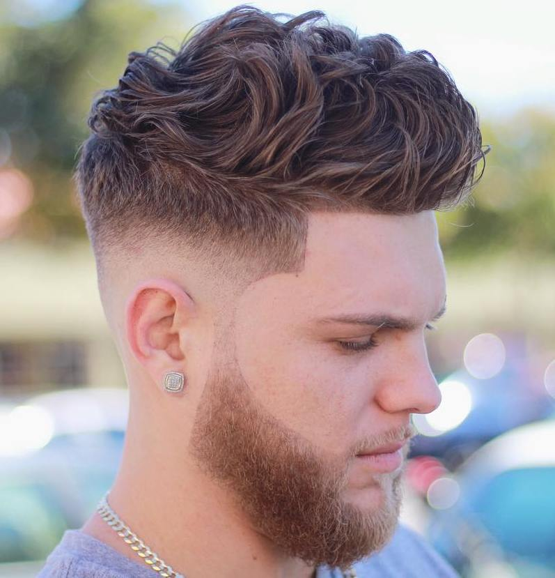 Charming Medium Fade For Thick Curly Hair