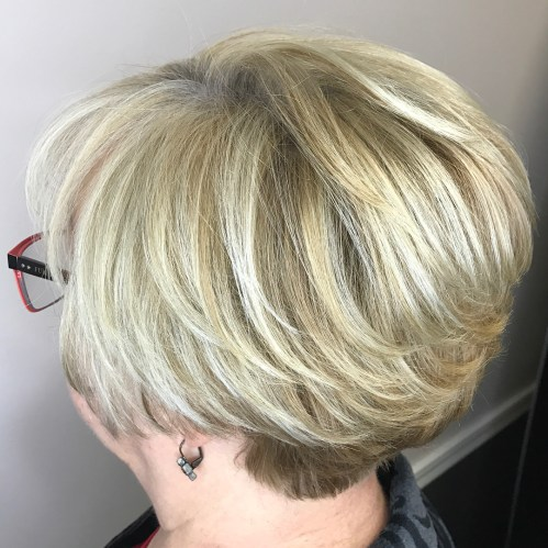 Over Blonde Bob With Nape Undercut