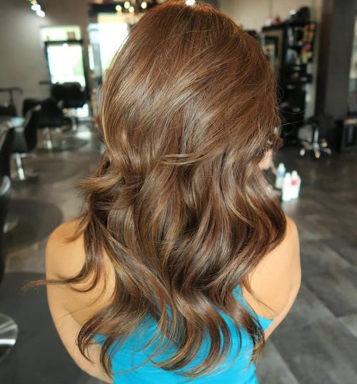 Medium Brown Layered Hair