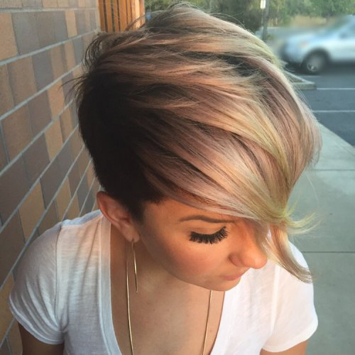 Women's Short Asymmetrical Undercut