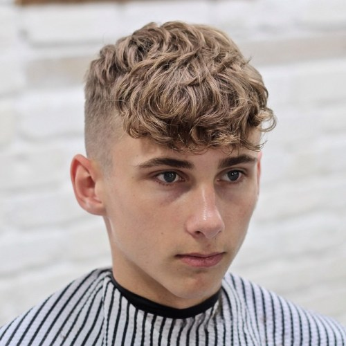 Good Haircuts For Teenage Guys With Curly Hair - folade