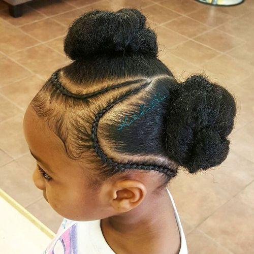 Two Bun Hairstyles Black Girls