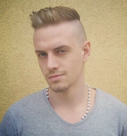 Superior Shaved Sides Hairstyle For Men