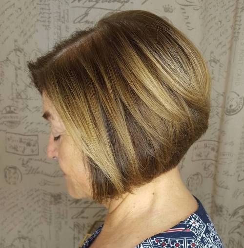 Over Stacked Honey Blonde Bob