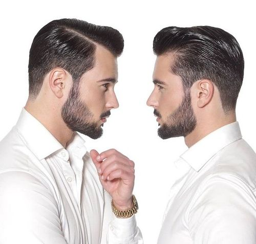 how to cut hair for slicked back look