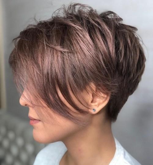 Undercut Pixie Cut For Thick Hair