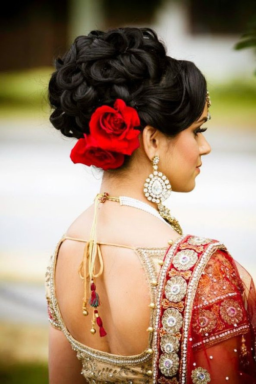 style for asian bride hair