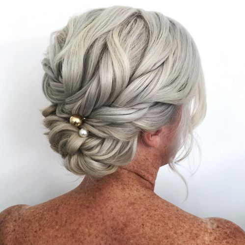 Mother Of The Groom Updo For Long Hair