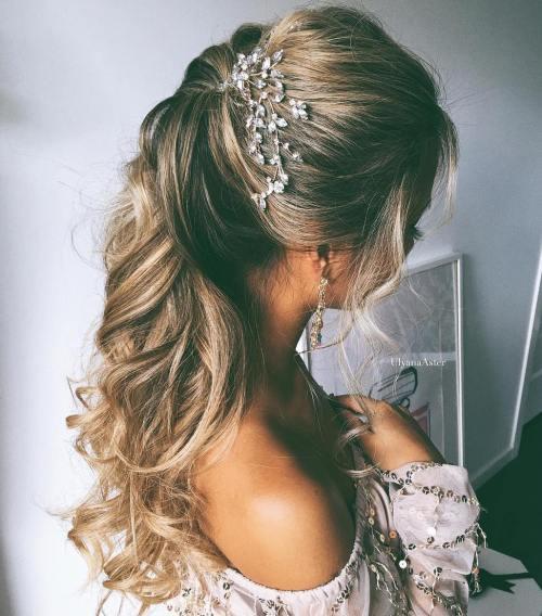 Pleasing Half Up Half Down Wedding Hairstyles 50 Stylish Ideas For Brides Short Hairstyles For Black Women Fulllsitofus