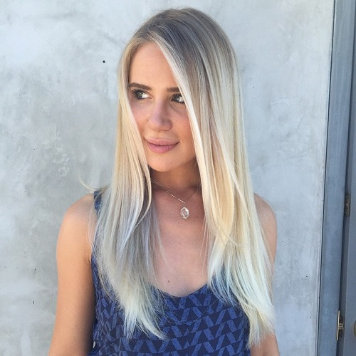 Long Straight Layered Hairstyle