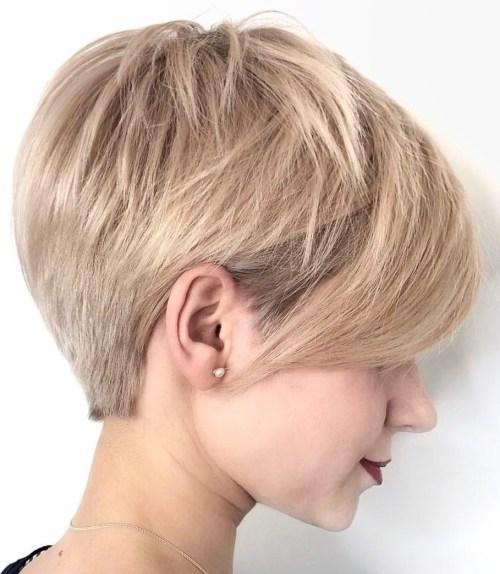 Neat Boyish Pixie Cut For Straight Hair