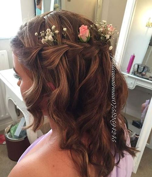 half up bridesmaids hairstyle