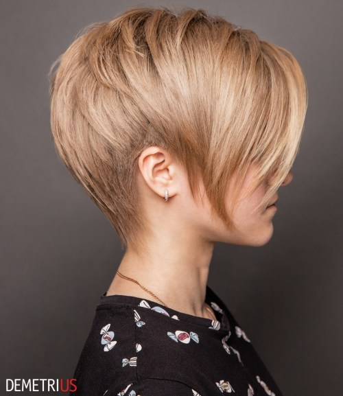 Layered Pixie With Side Undercuts