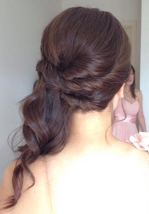 Bridesmaid hairstyles half up half down straight
