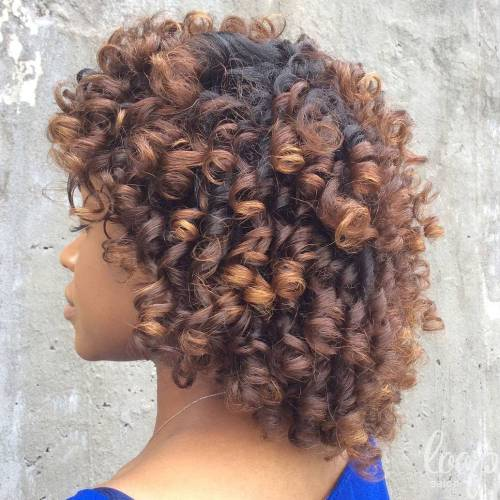 Medium Length Twist Out Curls