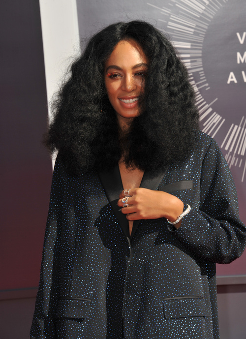 Solange haircut for long natural hair