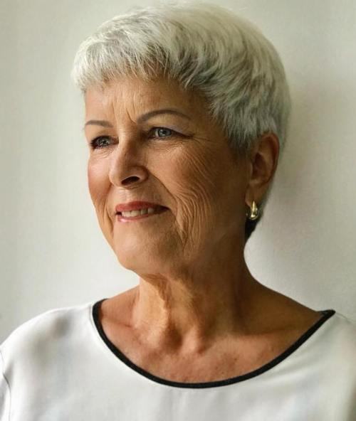 Short Blonde Hairstyle over 70