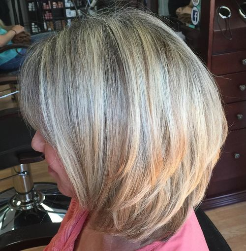 long layered bob for thick hair
