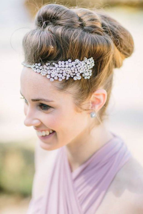 updo hairstyle for beach wedding