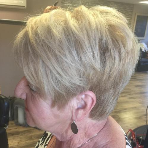 Short Ash Blonde Layered Cut