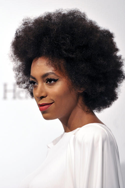 Solange Knowles natural hairstyle