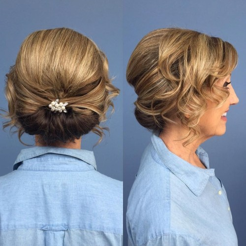 40 ravishing mother of the bride hairstyles mother of the bride low roll updo pmusecretfo Gallery