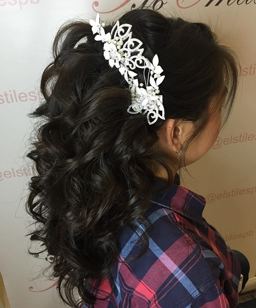 Wedding Hair Down: Half Up Half Down Wedding Hairstyles