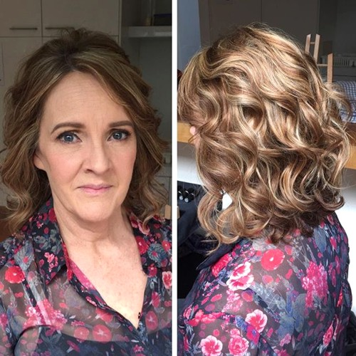 mature moms hair Curly
