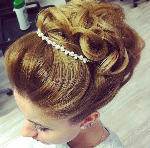 wedding curly updo for shorter hair