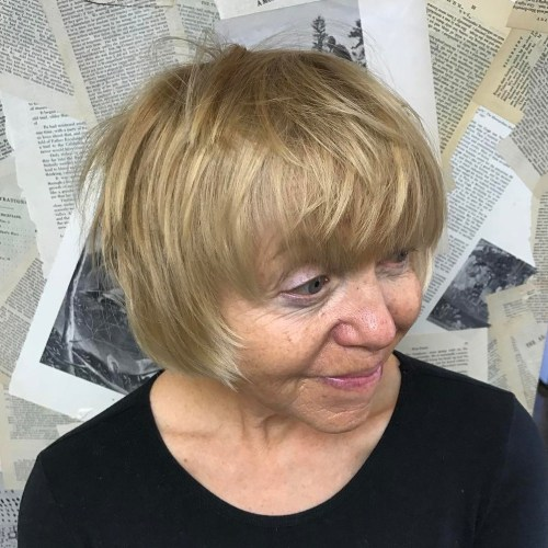 Hairstyles for 70 year old woman with glasses