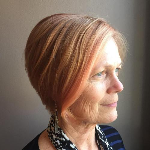 Older Women's Bob Hairstyle