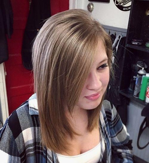Teen haircuts with side bangs