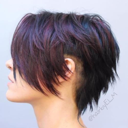 Long Layered Pixie With Side Undercuts
