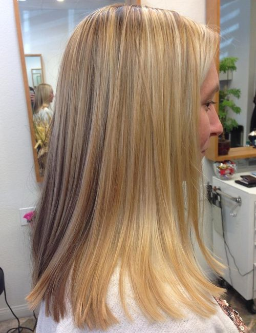 medium blunt blonde haircut