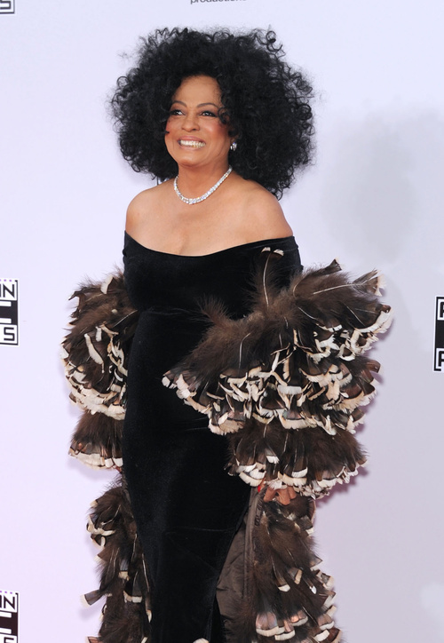 Diana Ross natural hairstyle