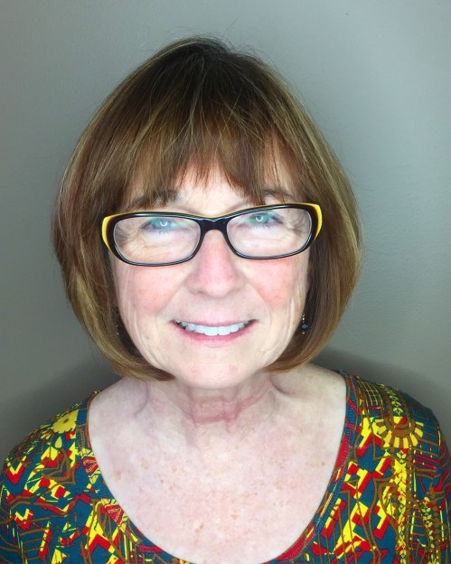 A-Line Bob with Bangs for Older Women