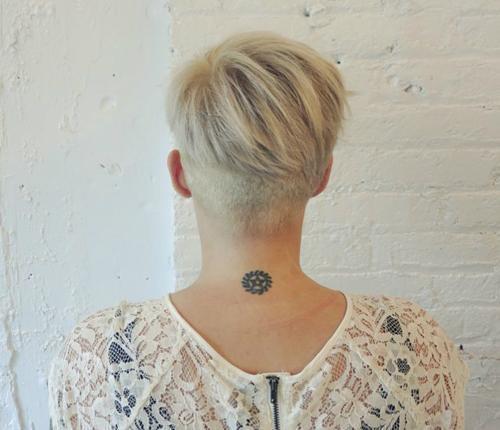 short blonde undercut hairstyle