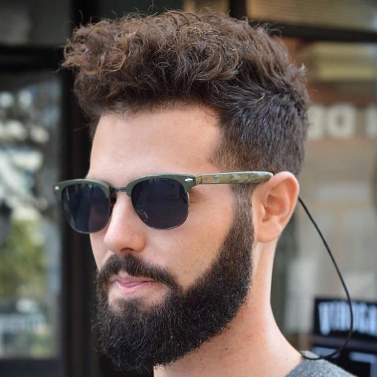 Curly Top Undercut For Thick Hair 40