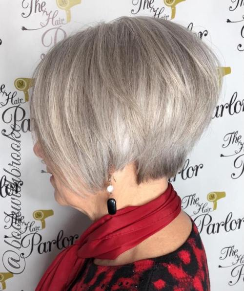 Short Stacked Silver Bob