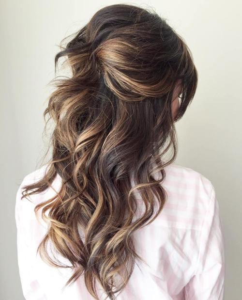 Peachy Half Up Half Down Wedding Hairstyles 50 Stylish Ideas For Brides Short Hairstyles Gunalazisus