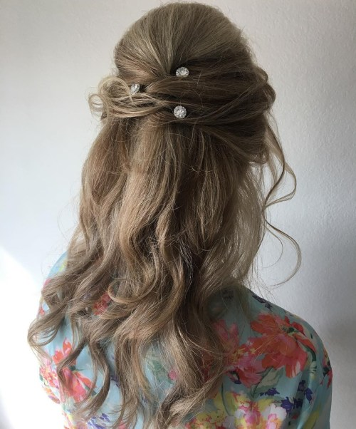 Formal Messy Half Up Hairstyle