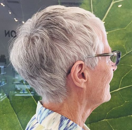 short gray hairstyle for women over 70