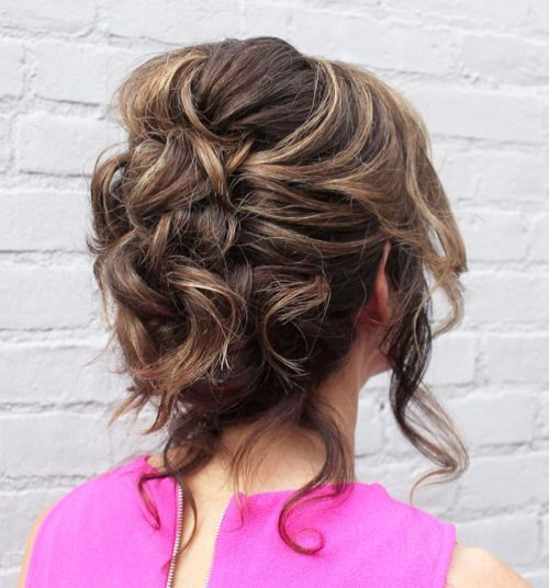 Messy Mother Of The Bride Updo For Weddings