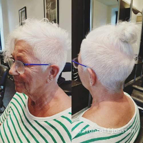 Over Gray Undercut Haircut